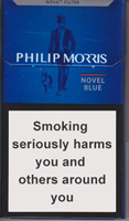 Philip Morris Novel Blue Cigarettes pack