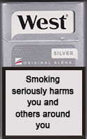 West Silver Cigarettes pack