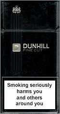 Dunhill Fine Cut Black Cigarettes pack