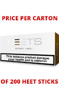 IQOS HEETS Bronze Label Cigarettes pack