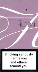 Hilton Super Slims Liliac 100's Cigarettes pack