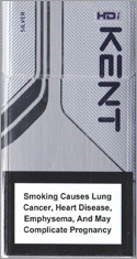 Kent HDi Silver Cigarettes pack