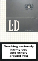 LD Silver Cigarettes pack