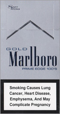 Marlboro Gold Prime Edge Super Slims 100s Cigarettes pack