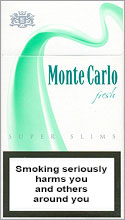 Monte Carlo Super Slims Fresh 100`s Cigarettes pack