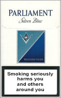 Parliament Extra Lights (Silver Blue) Cigarettes pack
