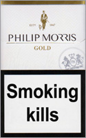 Philip Morris Gold Cigarettes pack