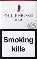 Philip Morris Red Cigarettes pack