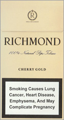 Richmond Cherry Gold Super Slims 100s Cigarettes pack